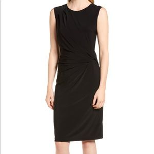 NIC+ZOE Twist Side Matte Jersey Sleeveless Dress M